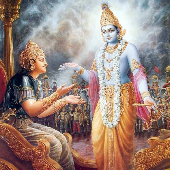 Sri Krsna instructs Arjuna